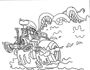 crazy car coloring pages - photo#24