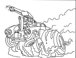 Zeleskos Car Crazy Coloring Book Rat Fink Coloring Pages
